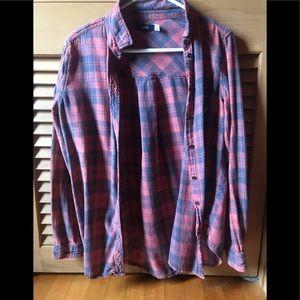 BDG Faded Red Vintage Flannel Medium